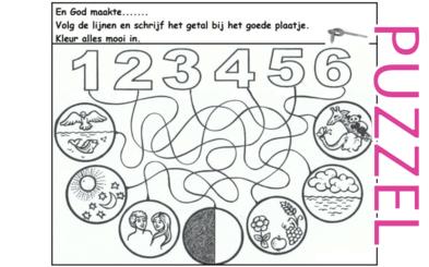 Puzzel – Genesis 1 – Schepping 3