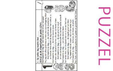 Puzzel – Genesis 1 – Schepping – 5