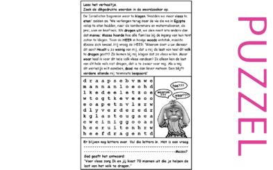 Puzzel – Numeri 11, Deuteronomium 1 – Mozes, zeventig oudsten, boos, kwartels 2