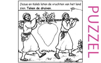 Puzzel – Numeri 13, 14, Deuteronomium 1, 8, 11 – Mozes, verkenners, Jozua, Kaleb, Kanaän 2