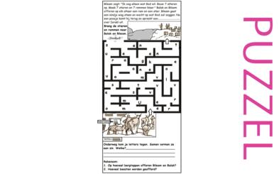 Puzzel – Numeri 22, 23, 24, Deuteronomium 23 – Balak, Moab, Bileam, vloek, zegen, offers, Israël 2