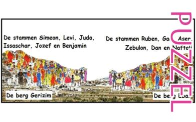 Puzzel – Deuteronomium 27, Jozua 8 – Mozes' aanwijzingen, afscheid, toespraak, oversteek Jordaan, zegen, vloek 2