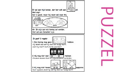 Puzzel – Deuteronomium 17 – Mozes, Samuël, waarschuwing koning, afscheid, toespraak 6