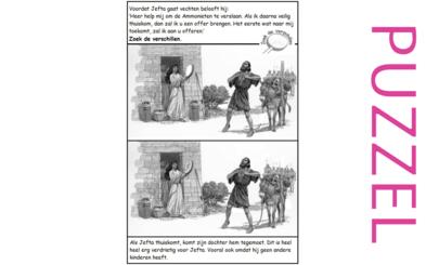 Puzzel – Rechters 11, 12, 1 Samuël 12, Hebreeën 11 – Richteren, Jefta 4