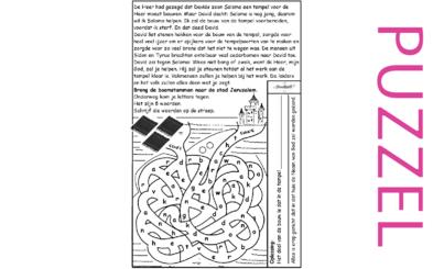 Puzzel – 1 Kronieken 22, 28  – doel en voorbereiding bouw van de tempel 4
