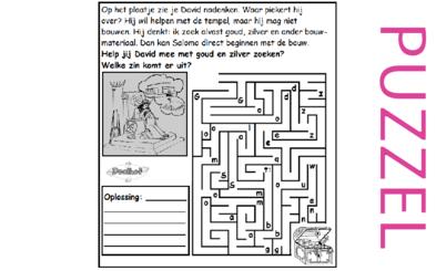Puzzel – 1 Kronieken 28 – voorbereiding bouw tempel 9