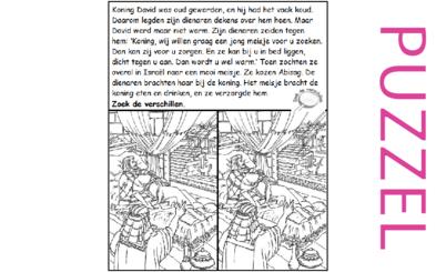 Puzzel – 1 Koningen 1 – David oud, Abisag 3