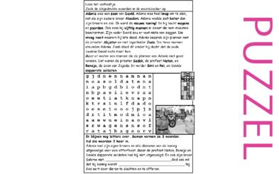 Puzzel – 1 Koningen 1 – David, Adonia 1