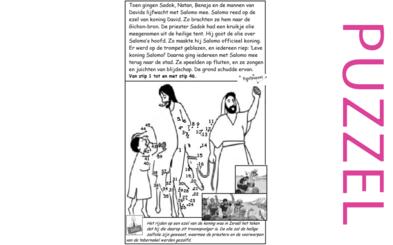 Puzzel – 1 Koningen 1 – Salomo tot koning gezalfd