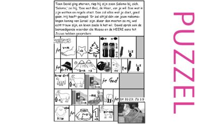 Puzzel – Deuteronomium 31, Jozua 1, 1 Koningen 2 – David, Salomo, belofte koningschap