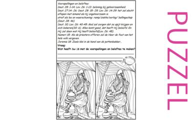 Puzzel – Deuteronomium 27, 28, 30, Leviticus 26, Jeremia 18, 1Koningen 8, 2 Kronieken 6 – bekering door straf, pottenbakker