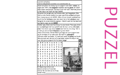 Puzzel – Leviticus 25, 1 Koningen 21 – Achab, Naboth, Izebel