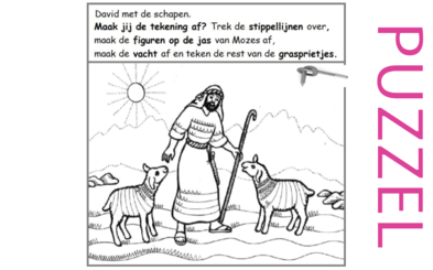 Puzzel – Psalm 23, Johannes 10 – Jezus, de goede Herder