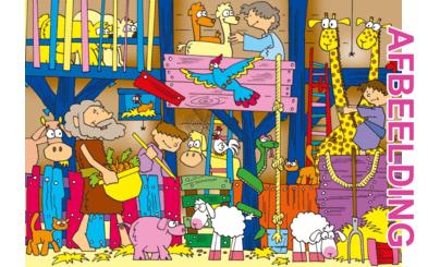 Bijbelse afbeeldingen en kleurplaten – Genesis 7, 8 – Noach, zondvloed, ark, dieren