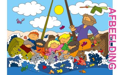 Bijbelse afbeeldingen en kleurplaten – Johannes 21 – Wonder: grote visvangst, Jezus, discipelen