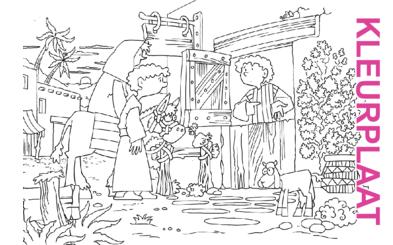 Bijbelse afbeeldingen en kleurplaten - Lucas 2 - Jozef, Maria, geen plaats, stal, Messias, Bethlehem