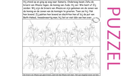 Puzzel – 1 Koningen 21, 2 Koningen 10 – Jehu, Achab, Izebel