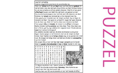 Puzzel – 2 Koningen 10 – Jehu half trouw aan God, afgod Baäl