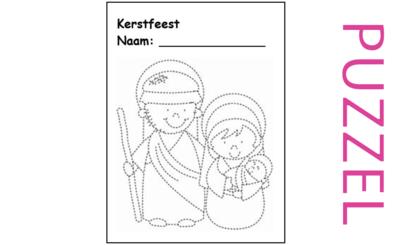 Kerstpuzzel bij Het kerstverhaal voor kinderen, Lucas 1, 2