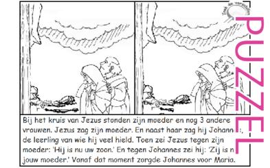 Puzzel – Johannes 19 – Pasen, Maria en Johannes, geen filmpje