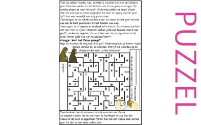 Puzzel – Mattheüs 28, Marcus 16, Lucas 24, Johannes 20 – Pasen, 2 vrouwen bij het graf, profetie opstanding vervuld, zie filmpjes paasdossier
