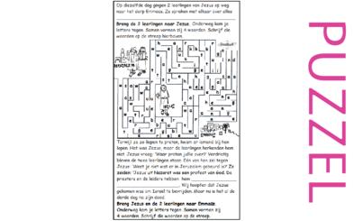 Puzzel –  Marcus 16, Lucas 24 – Pasen, Emmaüsgangers (1), geen filmpje