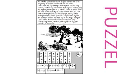 Puzzel – Mattheüs 26, Marcus 14, Lucas 22 – Pasen, Gethsemane, zie filmpjes paasdossier