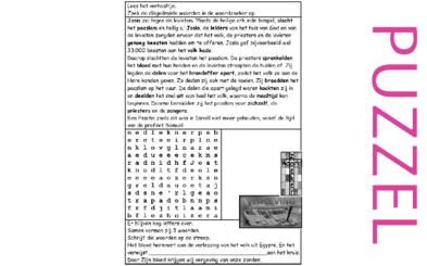 Puzzel – 2 Koningen 23, 2 Kronieken 35 – Josia, groot paasfeest