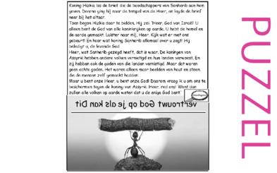Puzzel – 2 Koningen 19, 2 Kronieken 32, Jesaja 37 – Hizkia, Sanherib, Here help