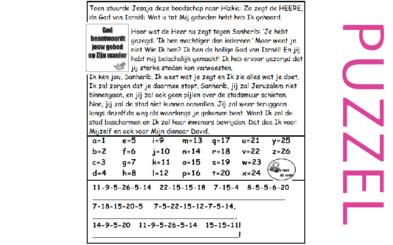 Puzzel – 2 Koningen 19, 2 Kronieken 32, Jesaja 37 – Hizkia, Jesaja, Sanherib, onheilsprofetie