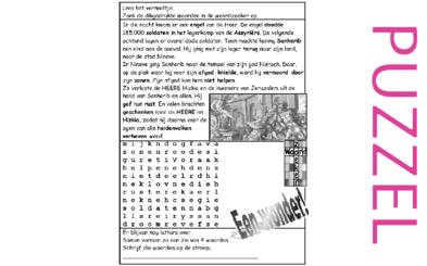Puzzel – 2 Koningen 19, 2 Kronieken 32, Jesaja 37 – Sanherib verliest en gedood