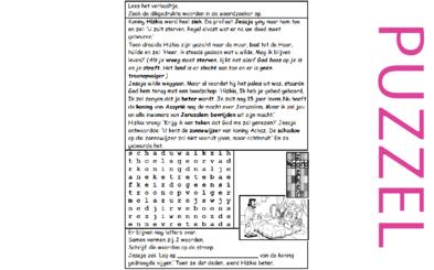 Puzzel – 2 Koningen 20, 2 Kronieken 32, Jesaja 38 – Hizkia ziekte, genezing