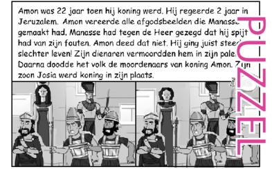 Puzzel – 2 Koningen 21, 2 Kronieken 33 – Amon, afgodendienst, moorden