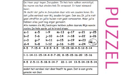 Puzzel – Sefanja 3 – God hoopte op bekering