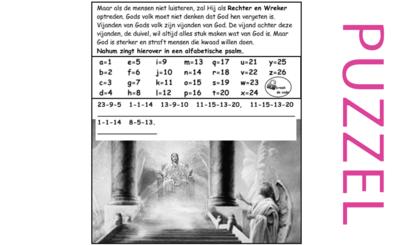 Puzzel – Nahum 1 – God als Rechter en Wreker