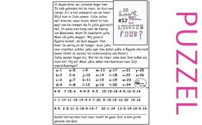 Puzzel – Jeremia 42 – God antwoordt: gehoorzaam Babel