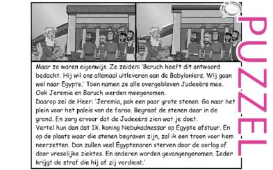 Puzzel – Jeremia 43 – naar Egypte, straf voorspeld
