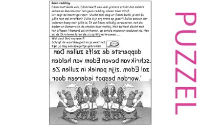 Puzzel – Jeremia 49 – Straf en geen redding voor Edom