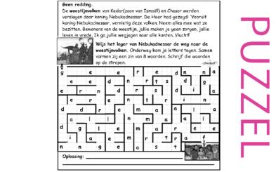 Puzzel – Jeremia 49 – straf en geen redding voor de woestijnvolken