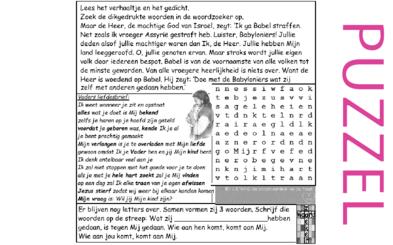 Puzzel – Jeremia 50 – straf voor Babel, wie aan hen komt, komt aan Mij
