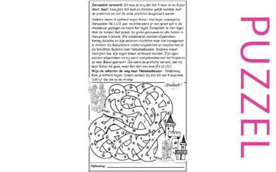 Puzzel – Jeremia 39, 52, 2 Koningen 24, 2 Kronieken 36 – Jeruzalem veroverd, Sedekia naar Babel